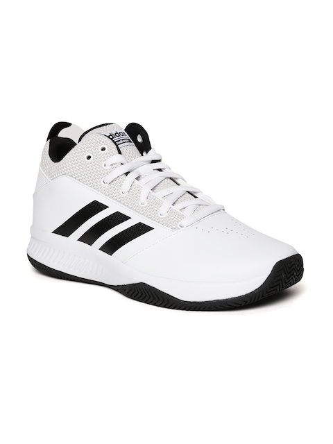 ADIDAS Men White Ilation 2.0 4E Basketball Shoes