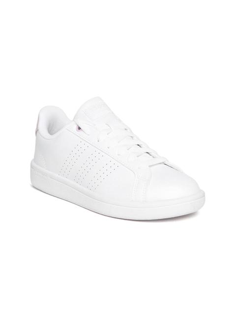 Adidas Women White CF Advantage CL Tennis Shoes