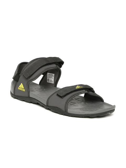 Adidas Men Charcoal Grey Hoist Sports Sandals