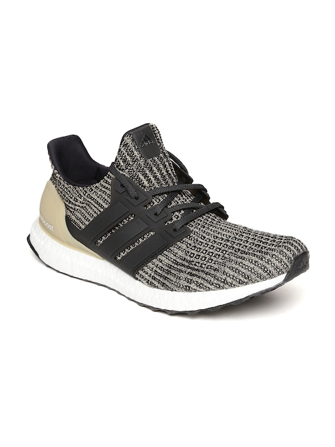 Adidas Men Black & Beige Ultraboost Running Shoes