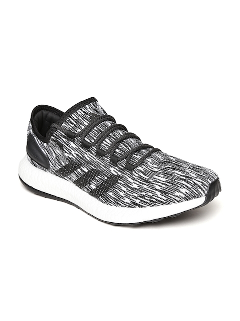 Adidas Men Black & White Pureboost Running Shoes