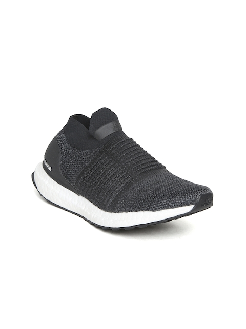 Adidas Women Black Ultraboost Laceless Running Shoes