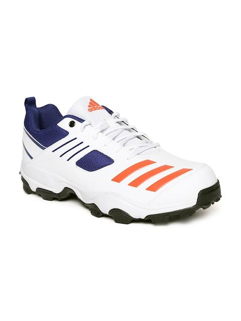 Adidas Men White Cricket Hase Sports Shoes