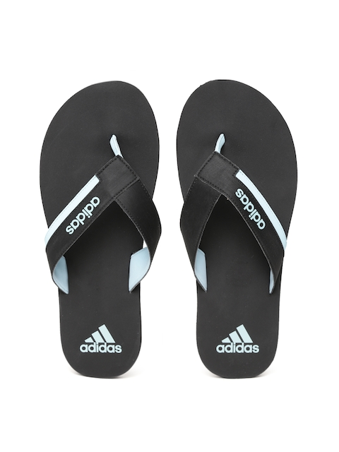 Adidas Men Black TOESIDE Solid Thong Flip-Flops