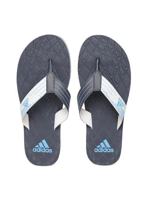Adidas Men Navy & Grey GADI Textured Thong Flip-Flops