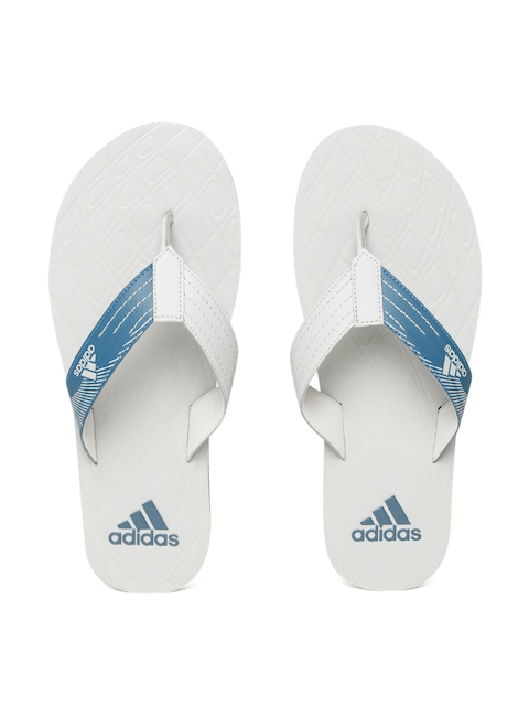 Adidas Men Grey & Blue Solid GADI Thong Flip-Flops