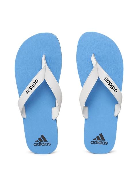 Adidas Men Grey & Blue PUKA Solid Thong Flip-Flops