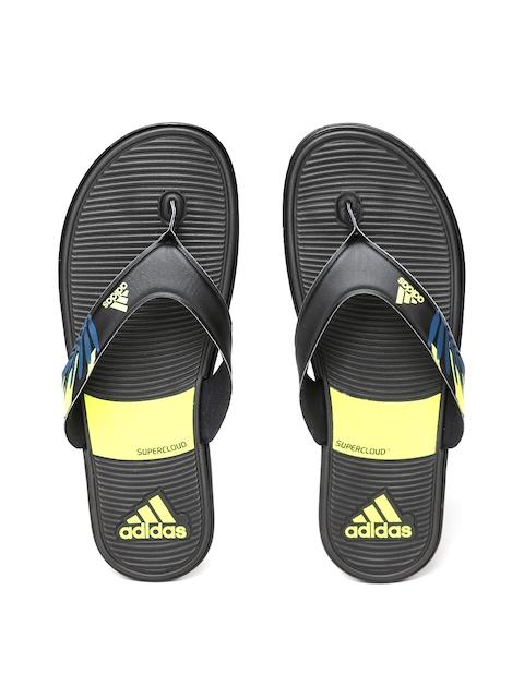 Adidas Men Black SC Beach Printed Thong Flip-Flops