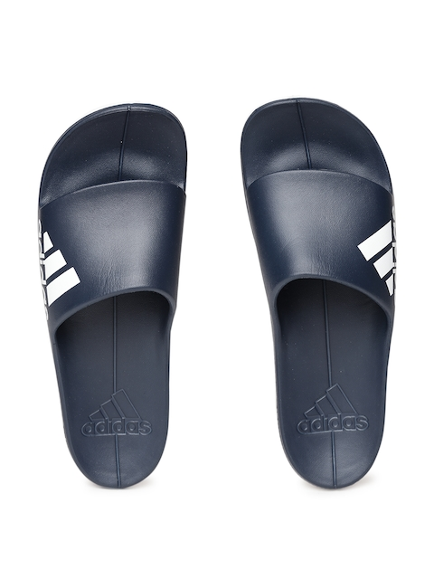 ADIDAS Men Navy Blue AQUALETTE CF Solid Sliders