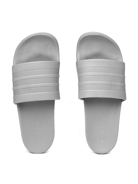 Adidas Men Grey Adilette Comfort Solid Sliders