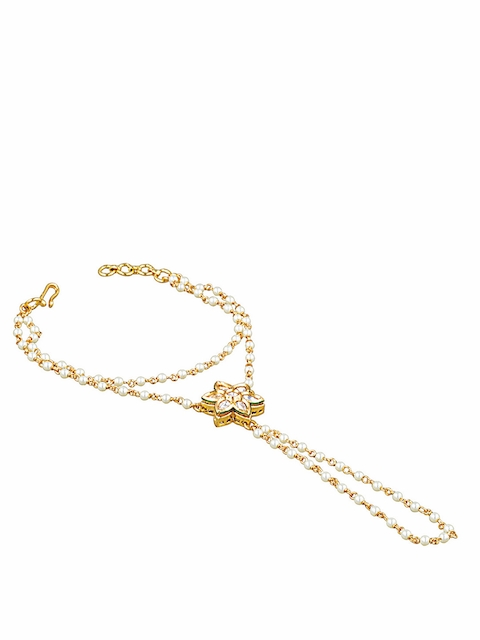 Sia Art Jewellery Gold-Plated Ring Bracelet