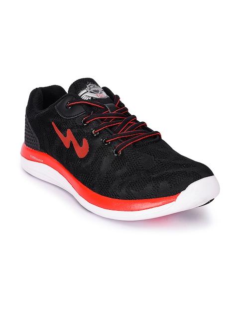Campus Men Zeal Black Running Shoes