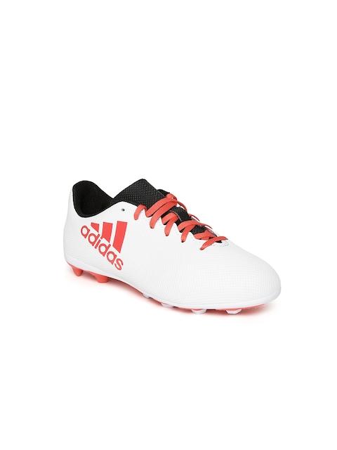 Adidas Boys White X 17.4 FXG J Football Shoes
