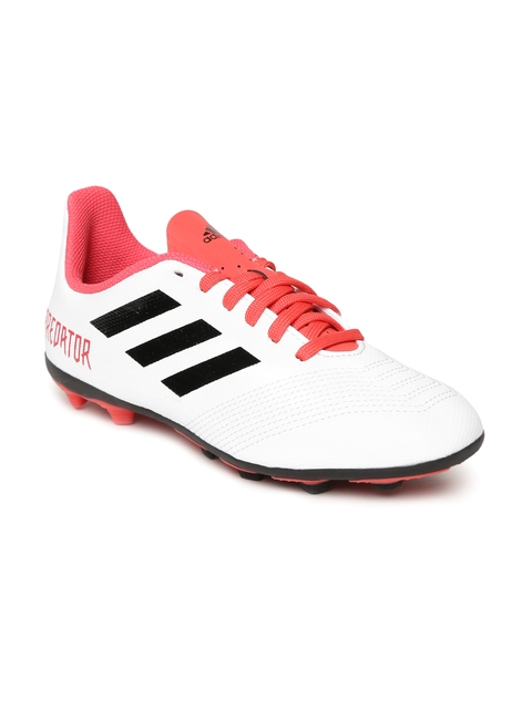 Adidas Boys White Predator 18.4 FXG Football Shoes
