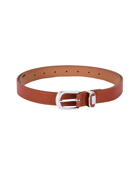 BuckleUp Women Tan Solid Belt