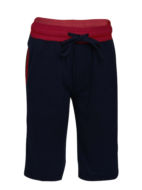 Jockey Boys Blue Solid Lounge Shorts