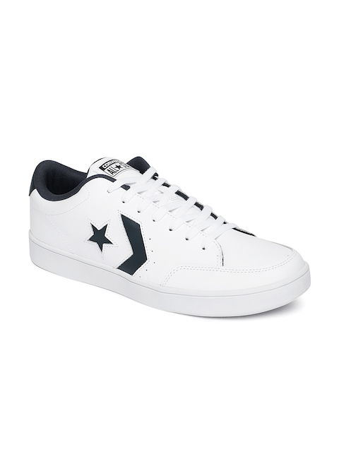 Converse Men White Leather Sneakers