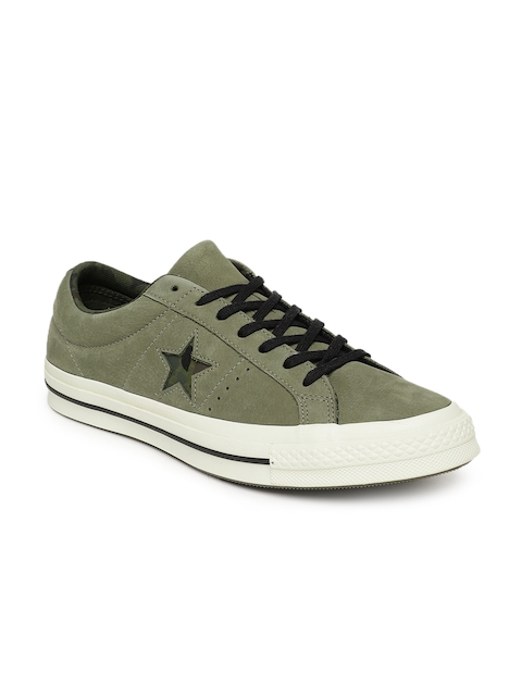 Converse Men Olive Green Sneakers