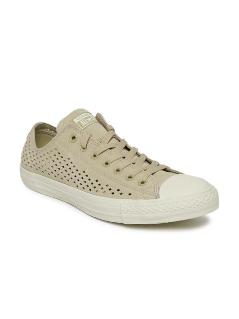 Converse Men Khaki Laser Cut Sneakers