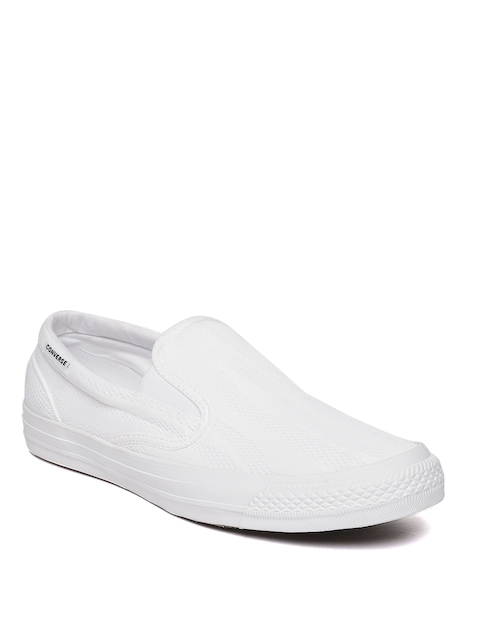 Converse Men White Slip-on Sneakers