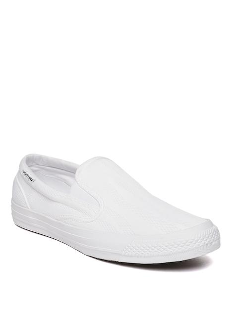 Converse Men White Slip-on Sneakers