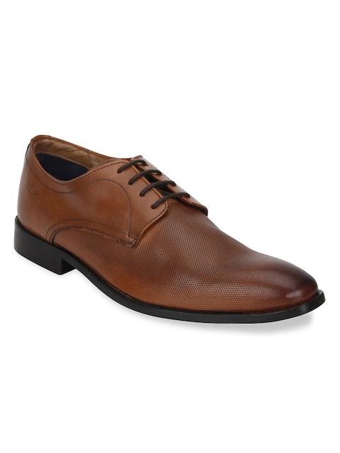 Park Avenue Men Brown Formal Leather Derbys