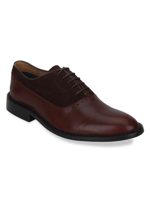 Park Avenue Men Brown Formal Leather Oxfords