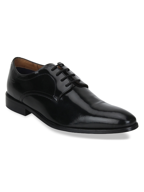 Park Avenue Men Black Formal Leather Derbys