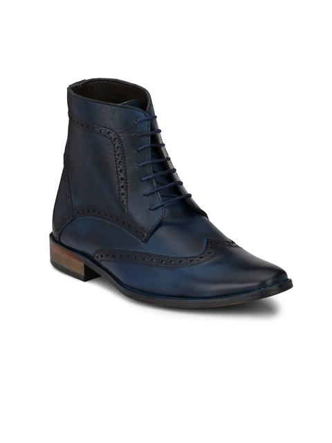 LUJO Men Blue Semiformal Boots