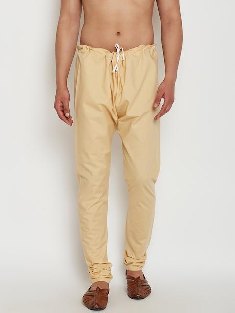 SOJANYA Men Beige Solid Dupion Silk Pyjamas