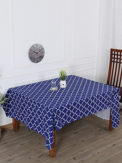 RANGRAGE Blue Handcrafted Persian Sapphire Table Cover
