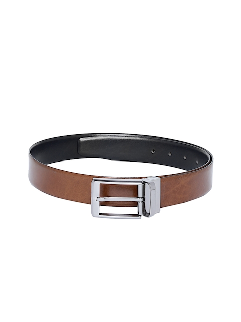 Alvaro Castagnino Men Brown & Black Solid Belt