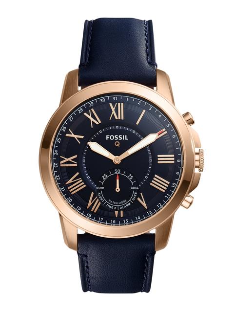 Fossil Men Blue Analogue Hybrid Smart Watch FTW1155