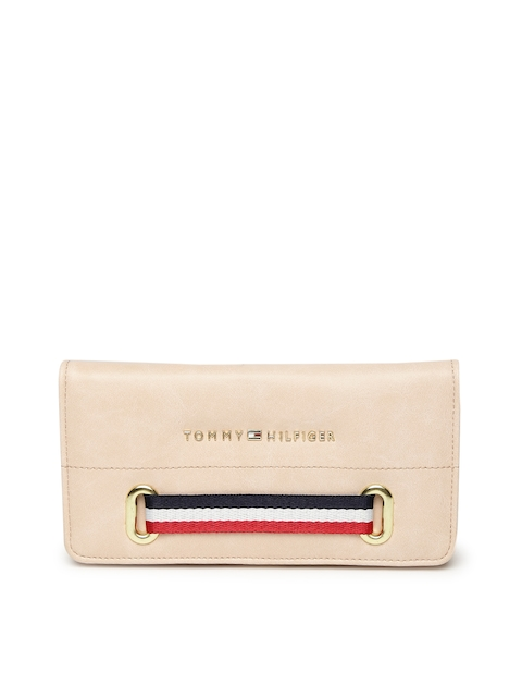 Tommy Hilfiger Women Pink Solid Two Fold Wallet
