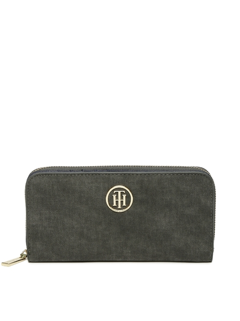 Tommy Hilfiger Women Olive Green Solid Two Fold Wallet