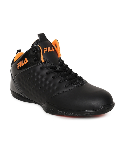 FILA Men Black Synthetic Mid-Top ELITE 2 Basketball Shoes