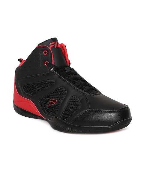 FILA Men Black Synthetic Mid-Top WILT Basketball Shoes