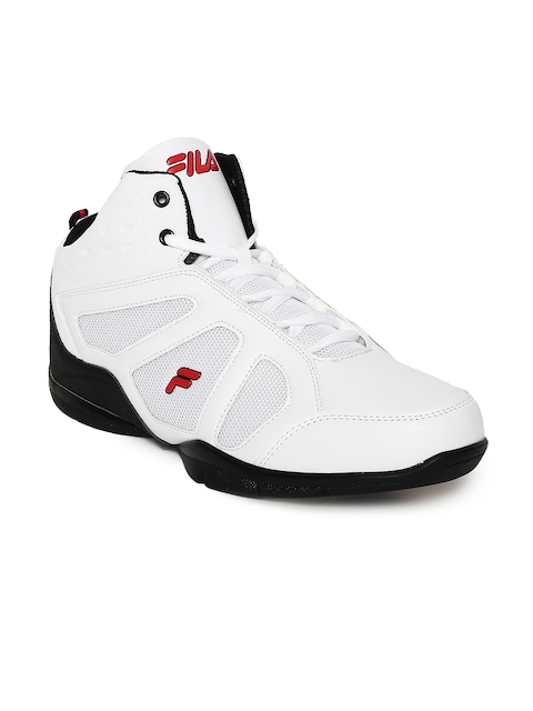 FILA Men White Synthetic Mid-Top WILT Basketball Shoes