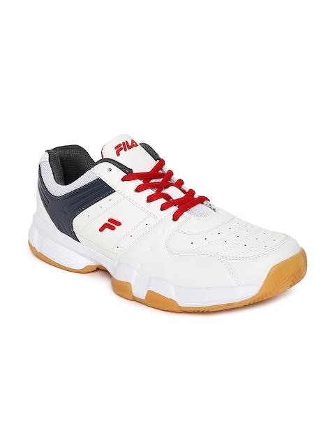 FILA Men White BASELINE Tennis Shoes