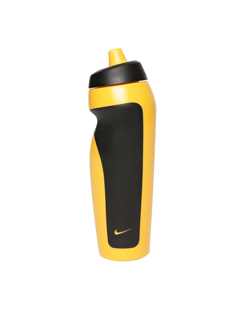 Nike Unisex Yellow & Black Sport Colourblocked Water Bottle