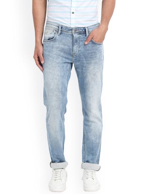 Indian Terrain Men Blue Slim Fit Low-Rise Clean Look Jeans