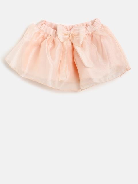 Gini and Jony Girls Peach Flared Skirt