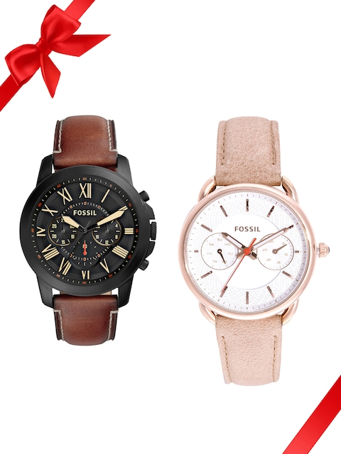 Fossil Set of 2 His & Her Watches