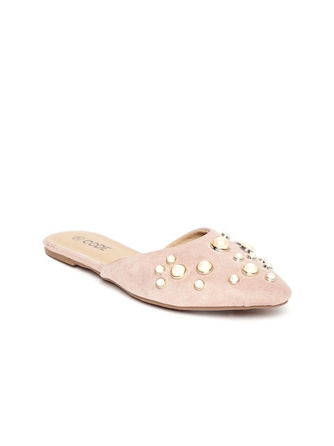CODE by Lifestyle Women Dusty Pink Embellished Mules