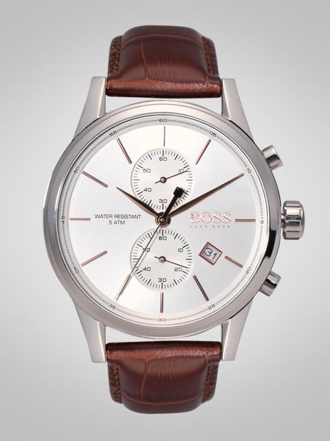 Hugo Boss Men Silver-Toned Analogue Watch 1513280
