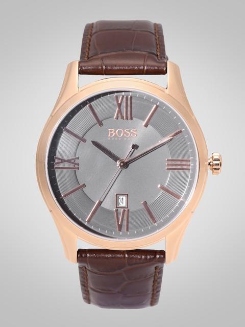 Hugo Boss Men Charcoal Grey Analogue Watch 1513387
