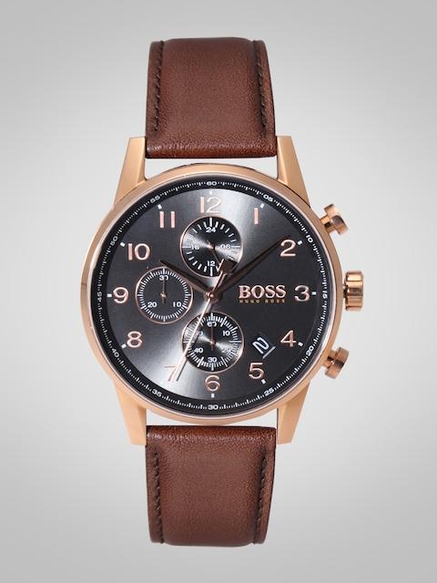 Hugo Boss Men Charcoal Grey Analogue Watch 1513496