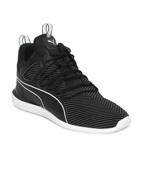 Puma Men Black Scuderia Ferrari Evo Cat Sneakers