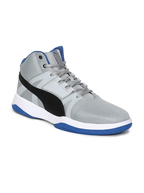 Puma Men Grey Rebound Street Evo IDP Basketball Shoes