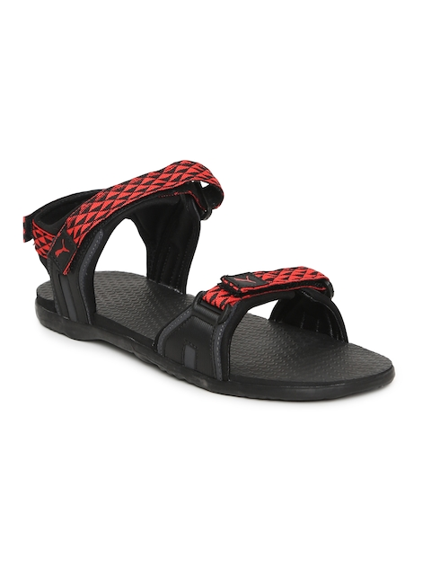 Puma Unisex Black & Red Nova MU2 IDP Sports Sandals